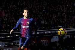 December 2, 2017 - Barcelona, Catalonia, Spain - Sergio Busquets during the spanih league match between FC Barcelona and RC Celta de Vigo at the Camp Nou Stadium in Barcelona, Catalonia, Spain  (Credit Image: © Miquel Llop/NurPhoto via ZUMA Press)