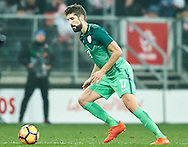 Wroclaw, Poland - 2016 November 14: Miha Mevlja of Slovenia controls the ball during Poland v Slovenia - International Friendly Soccer Match at Municipal Stadium on November 14, 2016 in Wroclaw, Poland.<br /> <br /> Adam Nurkiewicz declares that he has no rights to the image of people at the photographs of his authorship.<br /> <br /> Picture also available in RAW (NEF) or TIFF format on special request.<br /> <br /> Any editorial, commercial or promotional use requires written permission from the author of image.<br /> <br /> Mandatory credit:<br /> Photo by © Adam Nurkiewicz / Mediasport