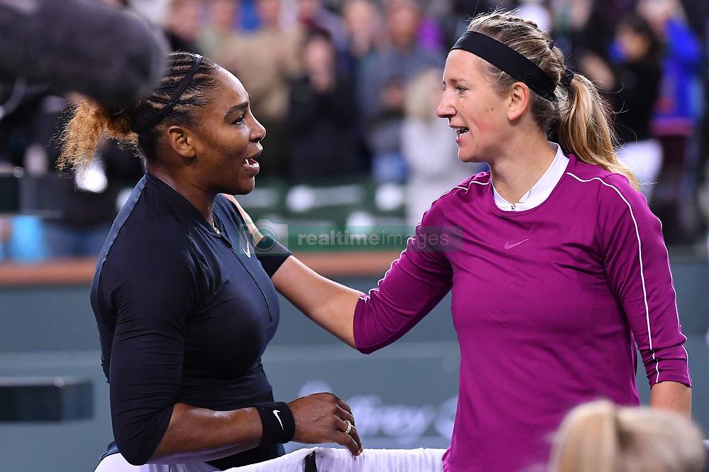 March 9, 2019 - Indian Wells, USA - Serena Williams (USA) and Victoria Azarenka (Credit Image: © Panoramic via ZUMA Press)