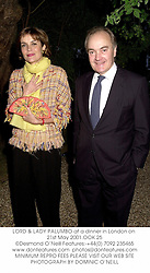 LORD & LADY PALUMBO at a dinner in London on 21st May 2001.OOK 25