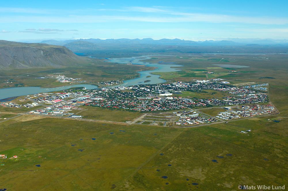 Selfoss séð til norðurs, Árborg. / Selfoss viewing north, Arborg