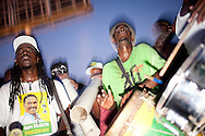 Musicians perform at a rally for Haitian presidential candidate Jude Celestin on Friday, November 26, 2010 in Port-au-Prince, Haiti.