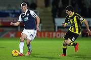 Millwall FC forward Steve Morison on the ball during the Sky Bet League 1 match between Burton Albion and Millwall at the Pirelli Stadium, Burton upon Trent, England on 1 December 2015. Photo by Aaron Lupton.
