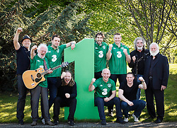 No Fee for Repro: .The Official Euro Republic of Ireland Song for Euro 2012 Tops the Irish Charts. .The Ray D'Arcy Show celebrated the No. 1 hit with 'The Rocky Road to Poland', rocked to the top of the Irish Singles Charts. Pictured celebrating are Producer John Reynolds, Dubliner Eamonn Campbell, Bressie, Eamonn deBarra, Danny O'Reilly (Corona's), Ray D'Arcy, Damien Dempsey, Sean McKeon and Dubliners Patsy Watchorn and John Sheehan. All profits from the single will be split between John Giles Foundation and Today FM's Shave or Dye, which has already raised over ?1.38 million this year for the Irish Cancer Society. Pic Andres Poveda..For further information, please contact:.Gill Waters.Today FM Press Office.Tel: 01-804 9047
