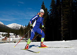 Andreja Mali at practice session during Media day of Slovenian biathlon team on November 12, 2010 at Rudno polje, Pokljuka, Slovenia. (Photo By Vid Ponikvar / Sportida.com)