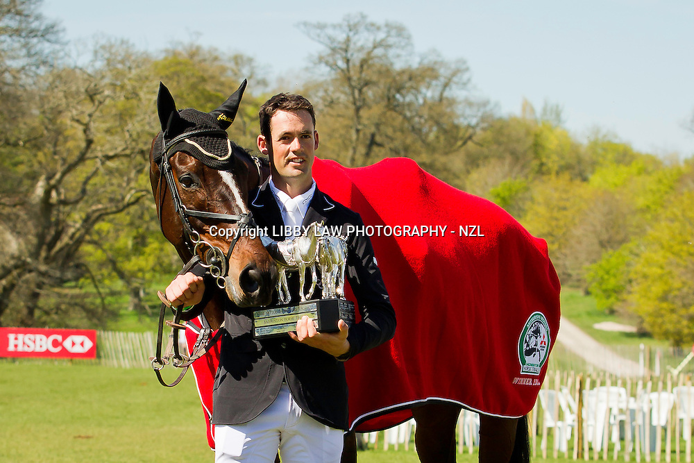 2013 TITLE WINNER: MITSUBISHI MOTORS BADMINTON INTERNATIONAL HORSE TRIAL CCI4*: NZL-Jonathan Paget (CLIFTON PROMISE) 2013 GBR-Mitsubishi Motors Badminton International Horse Trail CCI4*: (Monday 6 May 2013) CREDIT: Libby Law - COPYRIGHT: LIBBY LAW PHOTOGRAPHY - NZL (Sunday 4 May 2013)