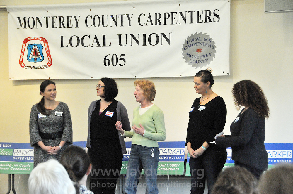Incumbent Jane Parker kicked off her reelection campaign for Supervisor of Monterey County District 4 with an event at the Carpenters Local 605 Hall in Marina on Saturday, March 12, 2016.