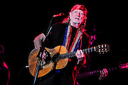 Legendary musician Willie Nelson plays The Pallidiium in Dallas Texas as part of an ASPCA fundraiser for Super Bowl Weekend. The show was special Willie messed up the words to his own songs and could not keep up with the band.Photo©SuziAltman