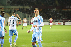 April 29, 2018 - Turin, Piedmont, Italy - Sergej Milinkovic-Savic (SS Lazio) celebrates after scoring the goal of the victory during the Serie A football match between Torino FC and SS Lazio at Olympic Grande Torino Stadium on April 29, 2018 in Turin, Italy..Final results is 0-1. (Credit Image: © Massimiliano Ferraro/NurPhoto via ZUMA Press)