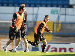 CARDIFF, WALES - Wednesday, October 8, 2008: Wales' Aaron Ramsey during training at Ninian Park ahead of the UEFA European U21 Championship Play-Off match against England. (Photo by David Rawcliffe/Propaganda)
