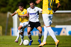 Zan Trontelj of NK Bravo vs Marko Pejic of NK Koper during football match between NK Bravo and NK Koper in 4th Round of Prva liga Telekom Slovenije 2020/21, on September 19, 2020 in Sport park ZAK, Ljubljana, Slovenia. Photo by Grega Valancic / Sportida