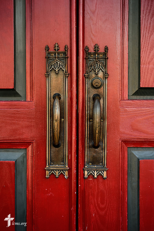 The church doors on Wednesday, Dec. 9, 2015, at Trinity Lutheran Church in Soulard, a part of St. Louis. LCMS Communications/Erik M. Lunsford