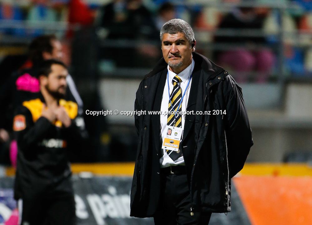 Taranaki coach Colin Cooper. ITM Cup Rugby, Taranaki v Auckland, Yarrow Stadium, New Plymouth, New Zealand. Friday, 26 September, 2014. Photo: John Cowpland / www.photosport.co.nz