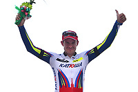 Podium, KRISTOFF Alexander (NOR) Katusha, winner, during the Tour of Oman 2015, stage 3, Al Mussanah Sports City - Al Mussanah Sports City (158,5Km) on February 19, 2015. Photo Tim de Waele / DPPI