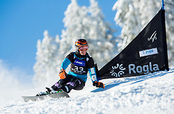 Nicolien Sauerbreij of Netherlands competes during Qualification Run of Ladies' Parallel Giant Slalom at FIS Snowboard World Cup Rogla 2015, on January 31, 2015 in Course Jasa, Rogla, Slovenia. Photo by Vid Ponikvar / Sportida
