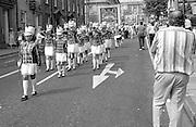 Goole Jubilee Jazz Band & Kiverton Park banner. NUM Centenary Demonstration and Gala, Barnsley.