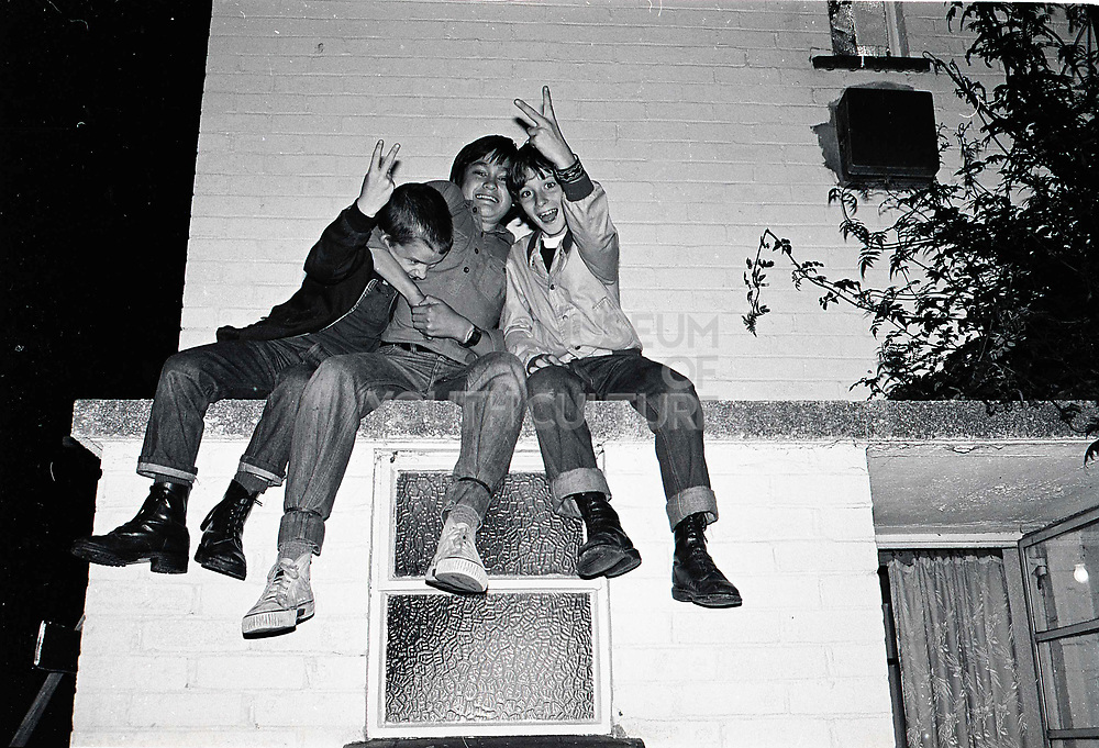 Neville, Kim and Gary, Farndale Avenue, London. 1980s.