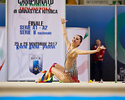 Milena Baldassarri from Fabriano team during the Italian Rhythmic Gymnastics Championship in Padova, 25 November 2017.