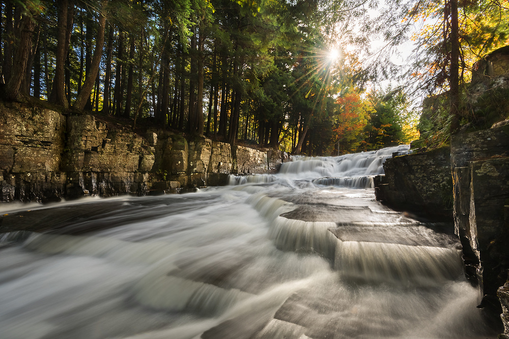 An autumn morning along the Slate River in Baraga County<br /> Michigan's Upper Peninsula