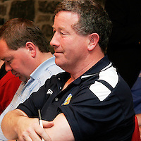 Micky Gilfoyle at the Clare Soccer League AGM in the Clare Inn on Thursday evening,.<br /><br /><br /><br />Photograph by Yvonne Vaughan.