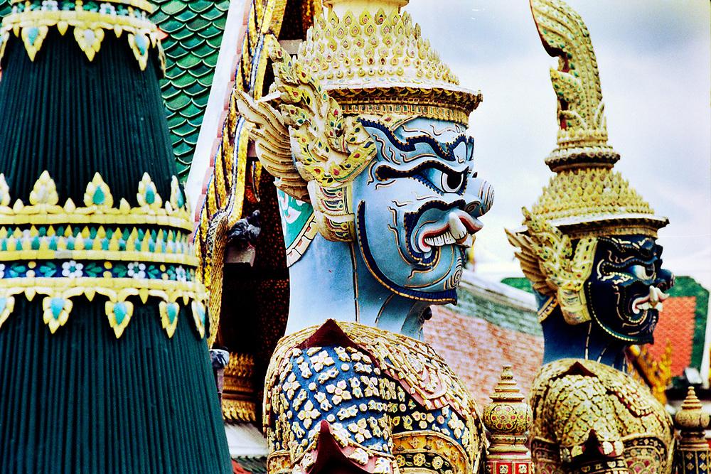Statues of Guardians at Wat Phra Kaew in Bangkok,Thailand. Photo by Lorenz Berna