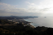 Chiba prefecture with Mt Tomisan in the distance and in the foreground Kanaya Japan