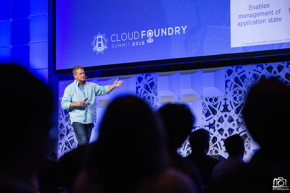 The Linux Foundation hosts its Cloud Foundry Summit at the Santa Clara Convention Center in Santa Clara, California, on May 25, 2016. (Stan Olszewski/SOSKIphoto)
