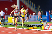 Eilish MCCOLGAN sprints to the finish line in the Women's 5000m Final during the Muller British Athletics Championships at Alexander Stadium, Birmingham, United Kingdom on 25 August 2019.