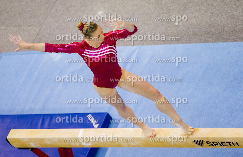 Lisa Ecker of Austria competes in the Balance Beam during Final day 2 of Artistic Gymnastics World Cup Ljubljana, on April 27, 2013, in Hala Tivoli, Ljubljana, Slovenia. (Photo By Vid Ponikvar / Sportida.com)