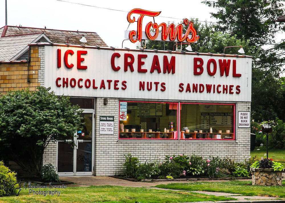 Tom's Ice cream bowl image for sale,