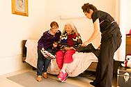 Billie Ruth Martin Hoff, Caddo Indian, Binger Nursing Home, Oklahoma, artist, senior, elder, visitor Joyce Carney