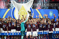 2019-11-27 Soccer game of Rio de Janeiro, Brazil, between the teams of Flamengo and Ceará, validated by the Brazilian Football Championship. Pictured Flamengorecebeo team winner trophy Photo by André Durão / Swe Press Photo