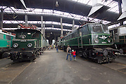 Strasshof, Austria.<br /> Opening of the season at Das Heizhaus - Eisenbahnmuseum Strasshof, Lower Austria's newly designated competence center for railway museum activities. Electric locomotives ÖBB 1080.01 (1924) and 1040.01 (1950).
