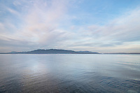 Bellingham Bay Washington, Lummi Island is in the distance.