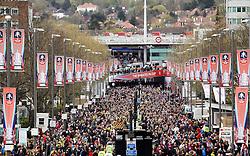Crystal Palace and Watford fans arrive at Wembley - Mandatory by-line: Robbie Stephenson/JMP - 24/04/2016 - FOOTBALL - Wembley Stadium - London, England - Crystal Palace v Watford - The Emirates FA Cup Semi-Final