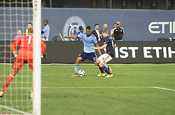 August 20, 2017 - New York, New York, United States - Yangel Herrera (30) of NYC FC controls ball during regular MLS game against New England Revolution on Yankee stadium NYC FC won 2 - 1  (Credit Image: © Lev Radin/Pacific Press via ZUMA Wire)