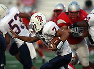 Roosevelt's Sophomore Quarterback Devin Haywood, Lee vs. Roosevelt, 15 Sep 07, Comalander Stadium, San Antonio, TX.  Roosevelt pounces Lee 51-34 in a high scoring shootout.