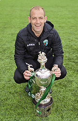 RHOSYMEDRE, WALES - Sunday, May 5, 2019: The New Saints assistant coach Steve Evans celebrates with the trophy after the FAW JD Welsh Cup Final between Connah's Quay Nomads and The New Saints at The Rock. The New Saints won 3-0. (Pic by David Rawcliffe/Propaganda)