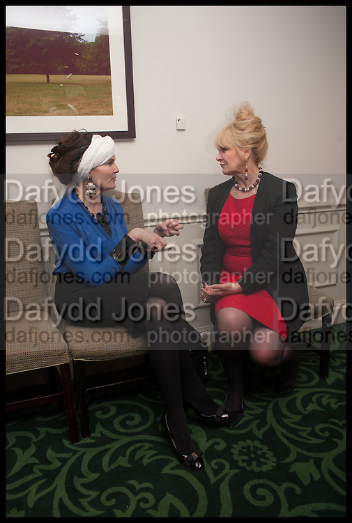 LADY EMMA KITCHENER; ANNE HODGSON-PRESSINGER, The hon Alexandra Foley hosts drinks to introduce ' Lady Foley Grand Tour' with special guest Julian Fellowes. the Sloane Club. Lower Sloane st. London. 14 May 2014