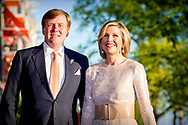 AMSTERDAM - Willem-Alexander and Queen Maxima during Liberation Day concert in AMsterdam, Netherlands - 05 May 2018 copyright robin utrercht
