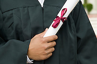 Graduate Holding Diploma mid section