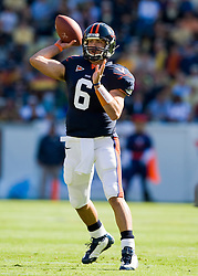 Virginia quarterback Marc Verica (6) in action against GT.  The Virginia Cavaliers defeated the #18 ranked Georgia Tech Yellow Jackets 24-17 in NCAA Division 1 Football at Bobby Dodd Stadium on the campus of Georgia Tech in Atlanta, GA on October 25, 2008.