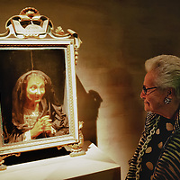 "VENICE, ITALY - MARCH 09:  Stylist Mariuccia Missoni admires a 17th Century wax portrait during  the press preview of ""Avere Una Bella Cera - Wax Portraits Exhibition"" at Palazzo Fortuny on March 9, 2012 in Venice, Italy.   The exhibition open until June 25 is the world's first exhibition on wax portraits analizing a field that has been studied very little by art historians."