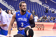 DESCRIZIONE : Berlino Eurobasket 2015 Islanda Italia<br /> GIOCATORE : Marco Belinelli<br /> CATEGORIA : riscaldamento pre game pregame<br /> SQUADRA : Italia<br /> EVENTO : Eurobasket 2015<br /> GARA : Islanda Italia<br /> DATA : 06/09/2015<br /> SPORT : Pallacanestro<br /> AUTORE : Agenzia Ciamillo&shy;Castoria/M.Longo<br /> Galleria : Eurobasket 2015<br /> Fotonotizia : Berlino Eurobasket 2015 Islanda Italia
