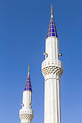 two minarets in the sky