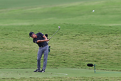 August 12, 2017 - Charlotte, North Carolina, United States - Rickie Fowler hits on to the 17th green during the third round of the 99th PGA Championship at Quail Hollow Club. (Credit Image: © Debby Wong via ZUMA Wire)