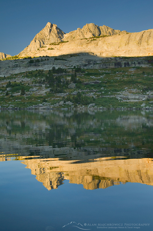 Sunrise over Deep Lake , Bridger Wilderness in the Wind River Range of the Wyoming Rocky Mountains