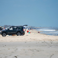 Carova 4x4 section of beach in the Outer Banks, North Carolina, USA
