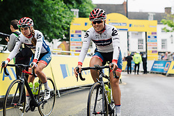 Lisa Klein makes her way from sign in at Aviva Women's Tour 2016 - Stage 2. A 140.8 km road race from Atherstone to Stratford upon Avon, UK on June 16th 2016.