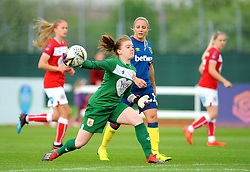 Sophie Baggaley of Bristol City throws the ball- Mandatory by-line: Nizaam Jones/JMP - 28/04/2019 - FOOTBALL - Stoke Gifford Stadium - Bristol, England - Bristol City Women v West Ham United Women - FA Women's Super League 1